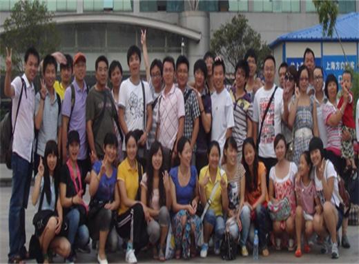 公司员工上海考察